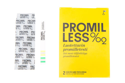 Promilless Promilletesti 2 kpl/pkt